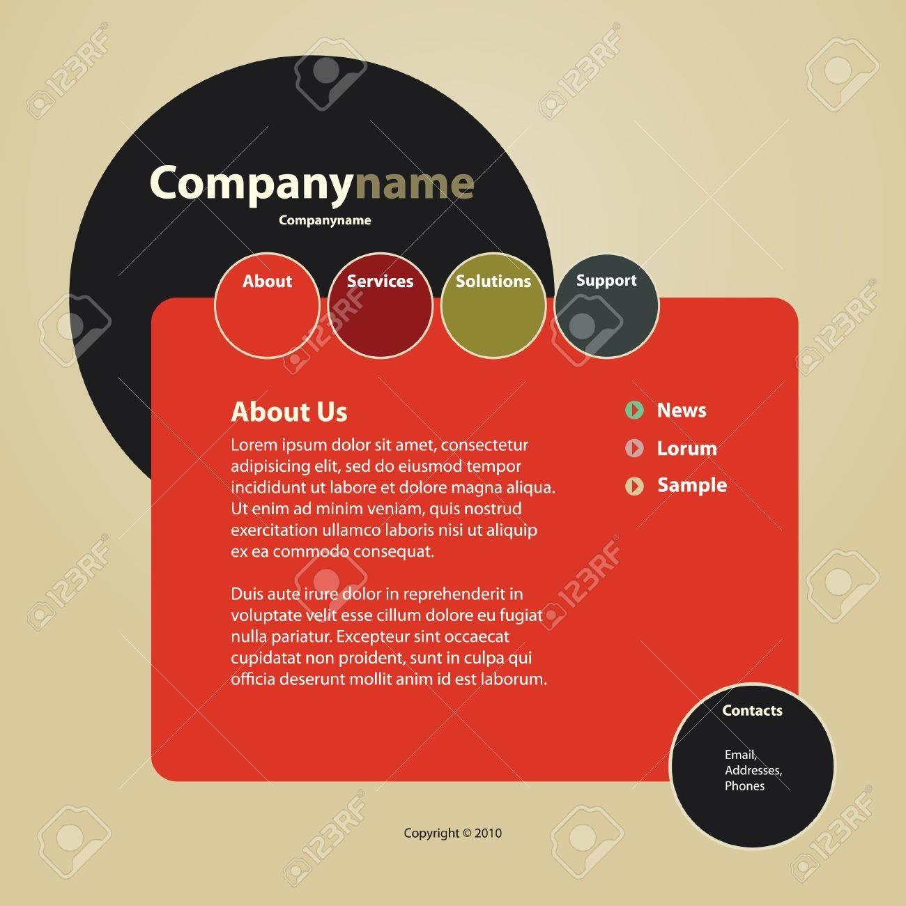 Website Template Stock Vector - 10221380