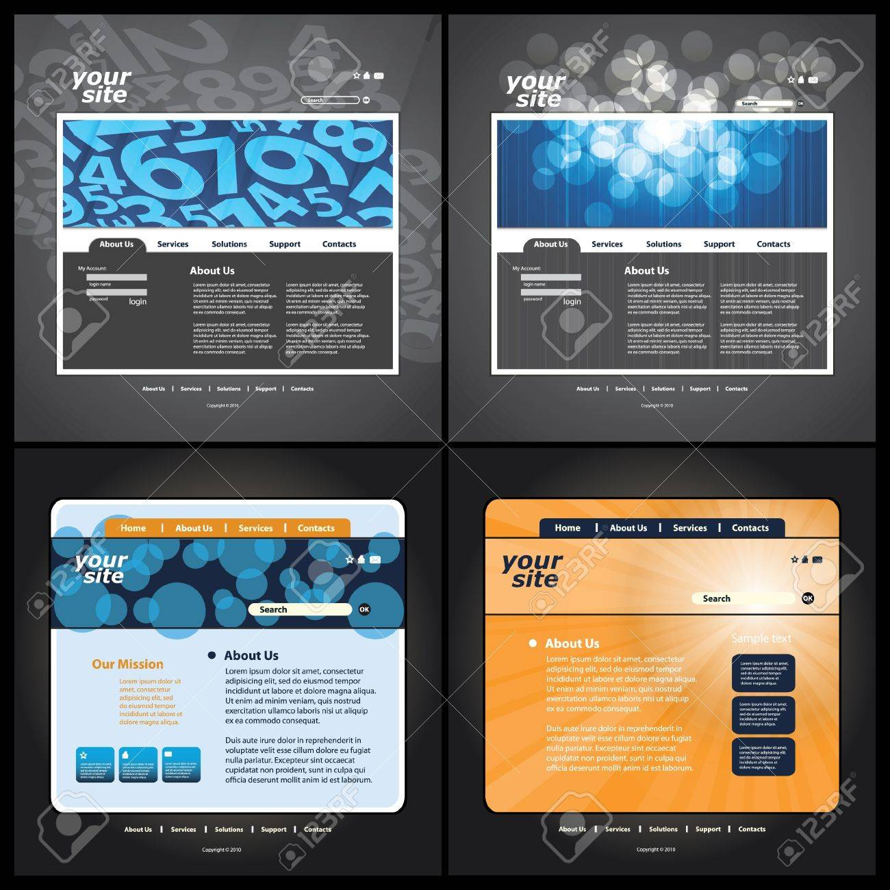Abstract business web site design template vector Stock Vector - 10177301