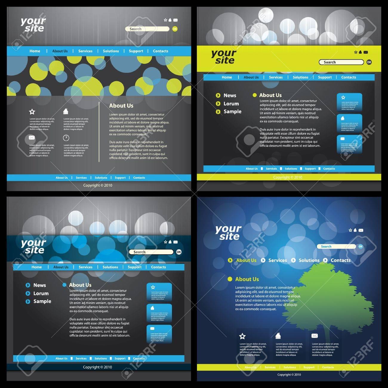 Vector web site design template Stock Vector - 10177299