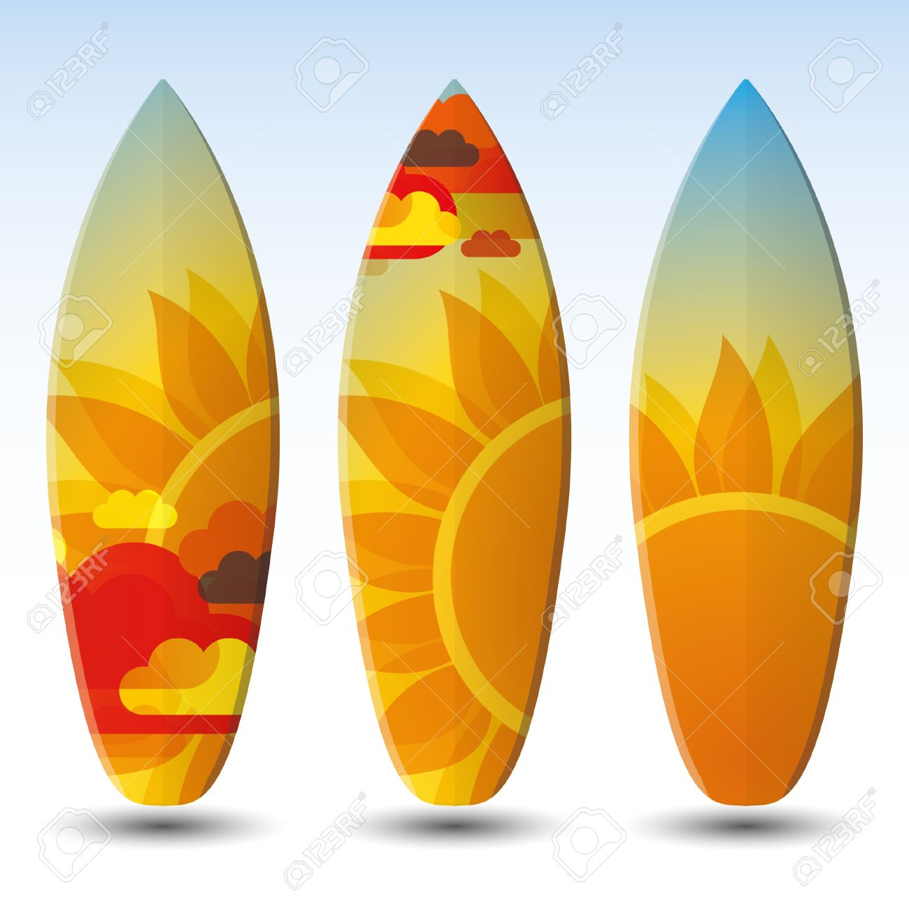 Surfboards Design Royalty Free Cliparts Vectors And Stock