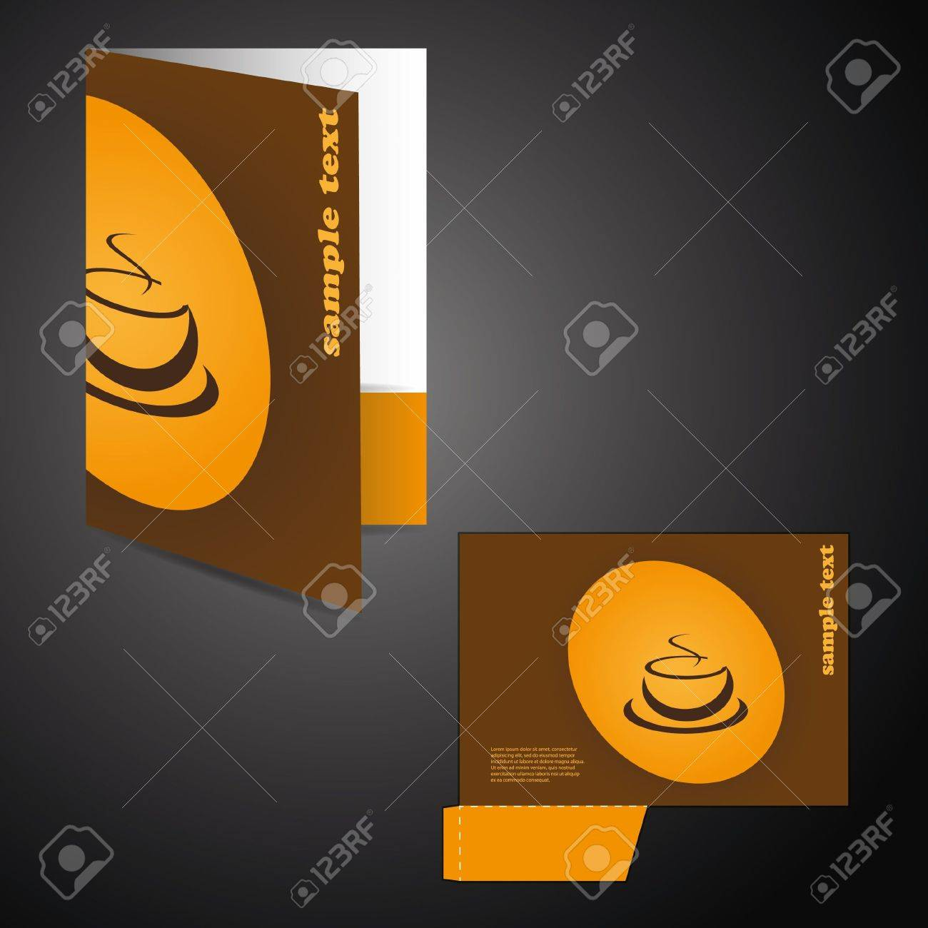 Corporate folder with die cut design Stock Vector - 10473656
