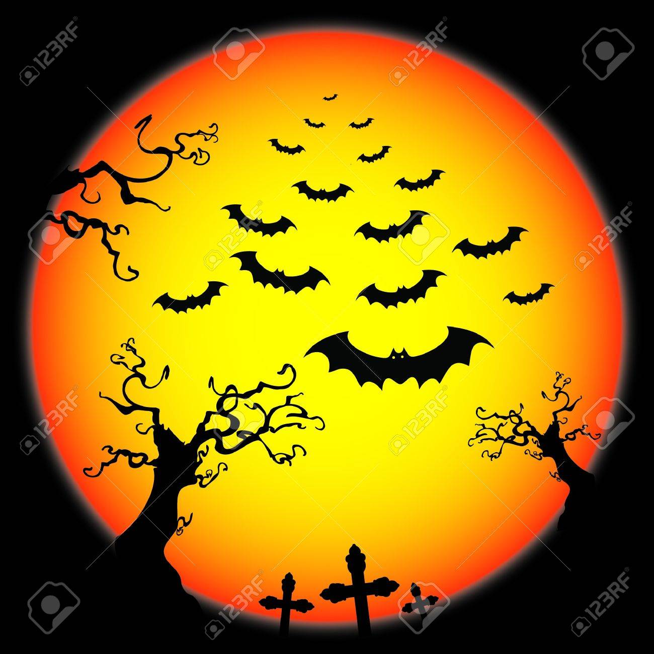 Halloween Card Stock Vector - 10549418