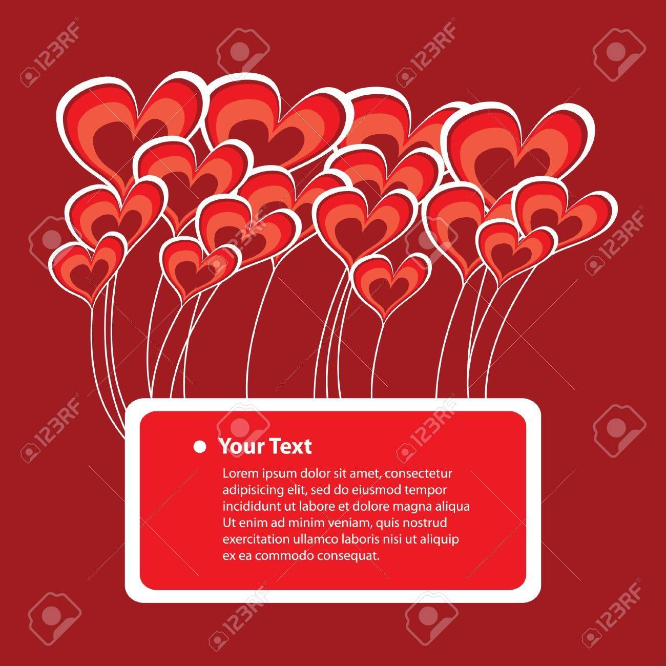 Congratulatory Card with Abstract Heart Vectors Stock Vector - 10711382