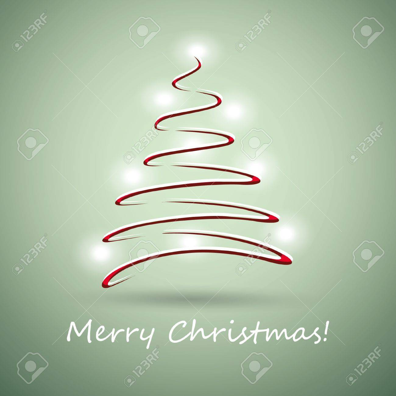 Christmas tree made from red ribbon Stock Vector - 10965839