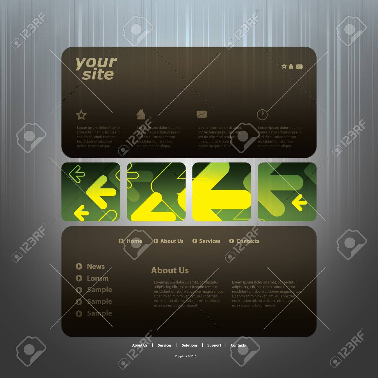 Abstract business web site design template vector Stock Vector - 10979554