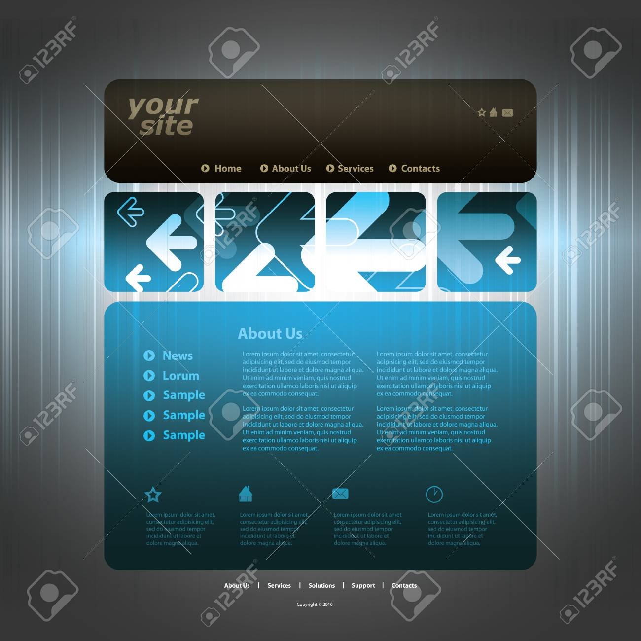 Abstract business web site design template vector Stock Vector - 10979560