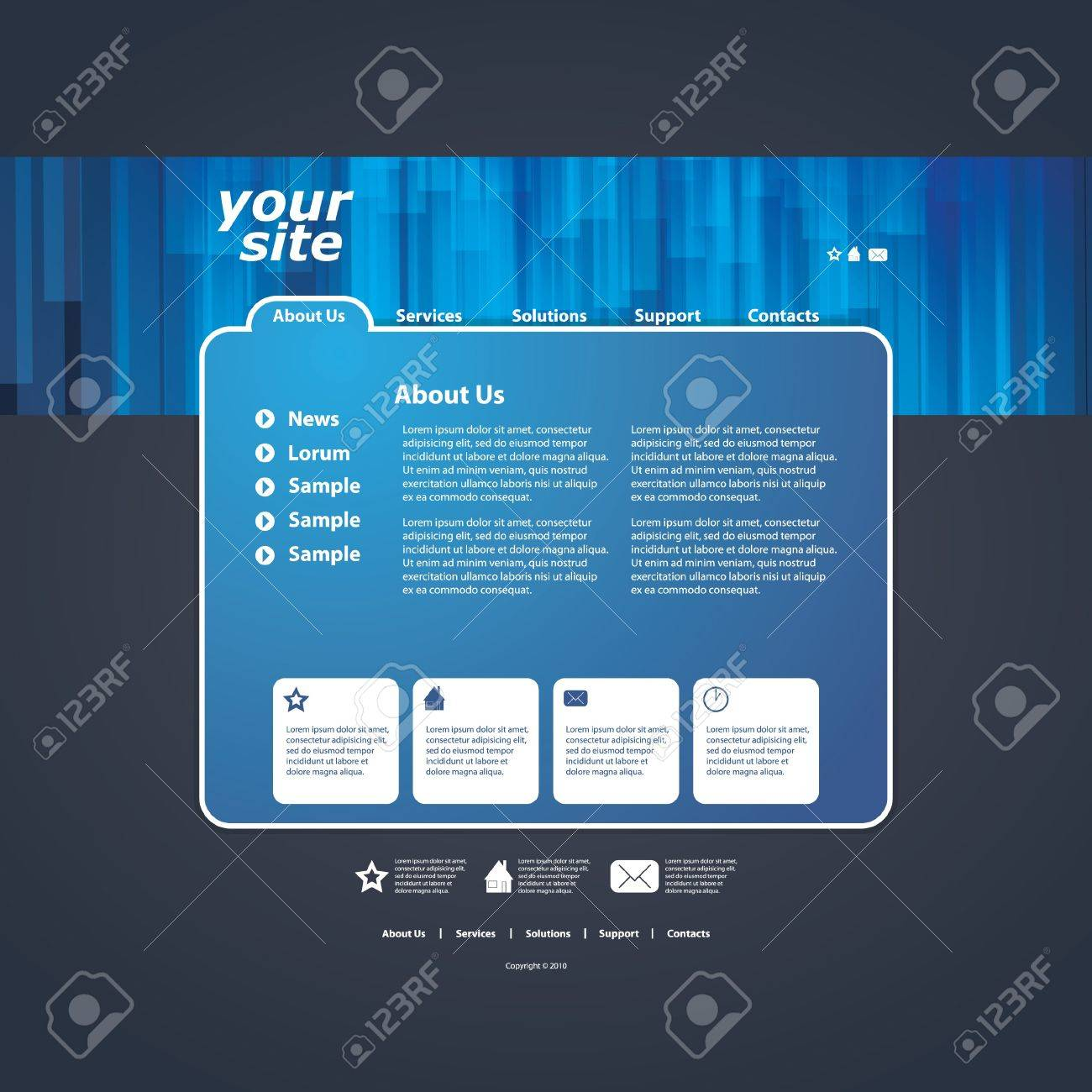 Abstract business web site design template vector Stock Vector - 10979578