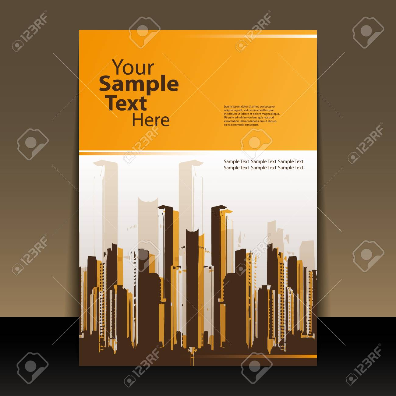 Flyer or Cover Design Stock Vector - 11053658