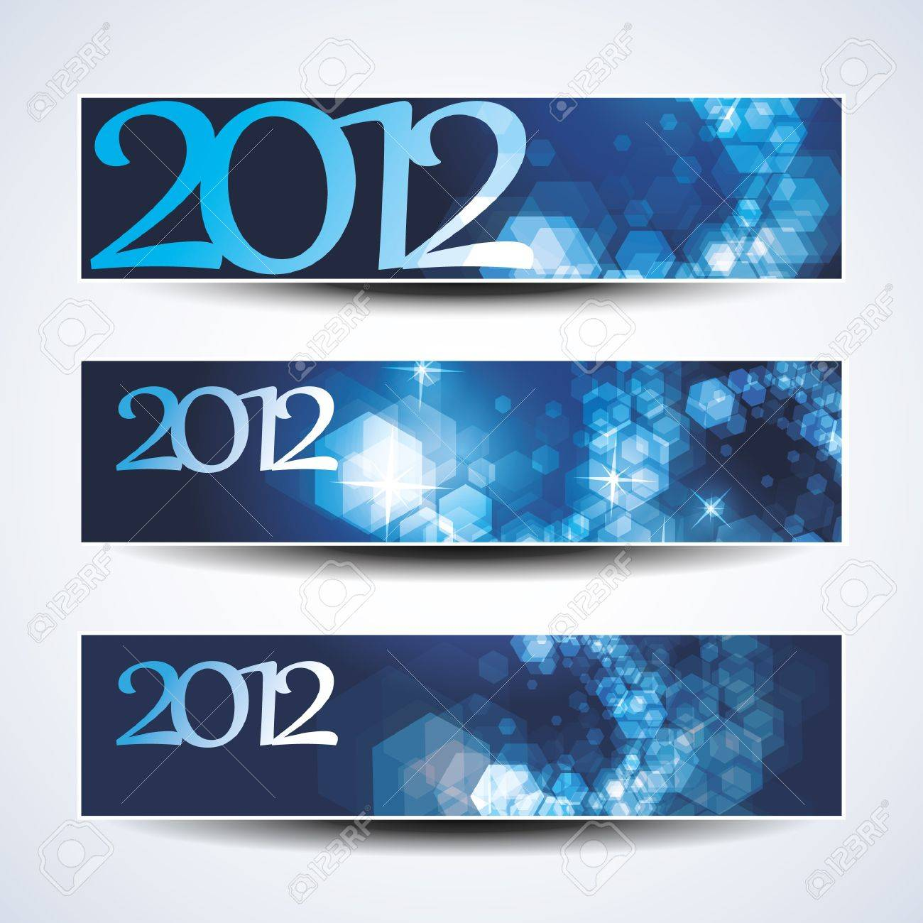 Set of horizontal Christmas, New Year banners Stock Vector - 11053505