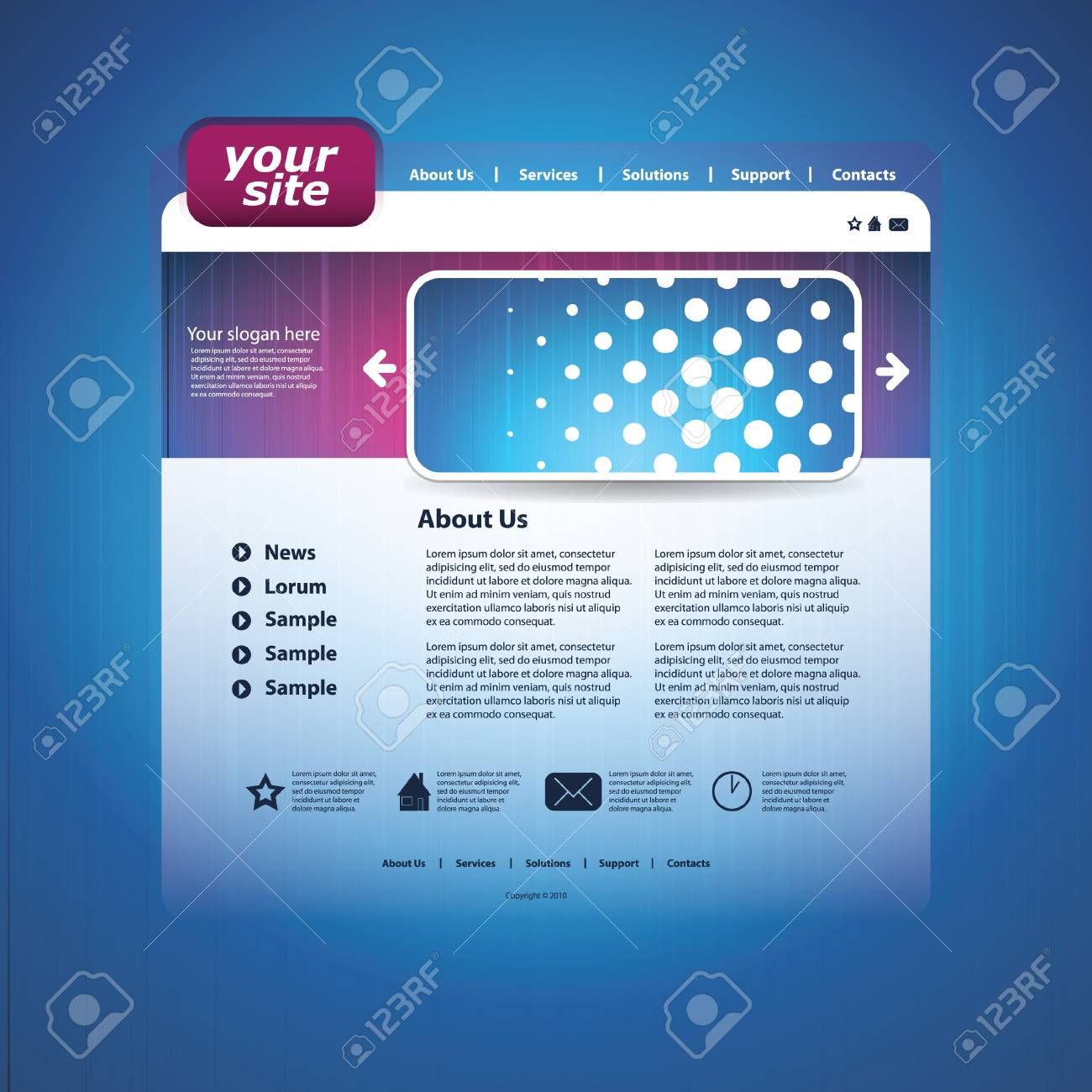 Abstract business web site design template vector Stock Vector - 11011135