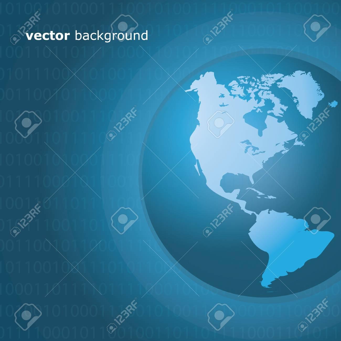 Worldwide Information Background Stock Vector - 11126759