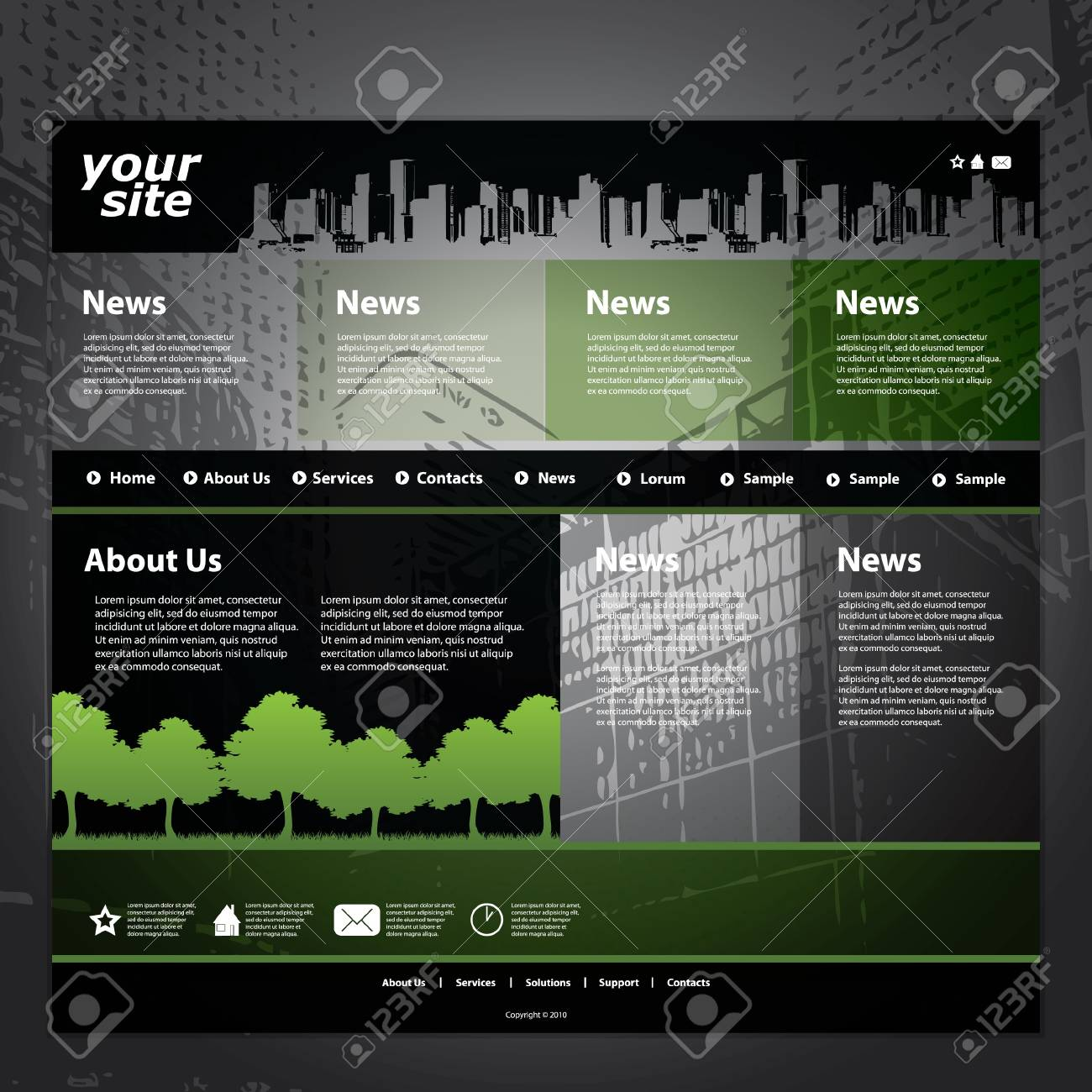 Website template Stock Vector - 11105678