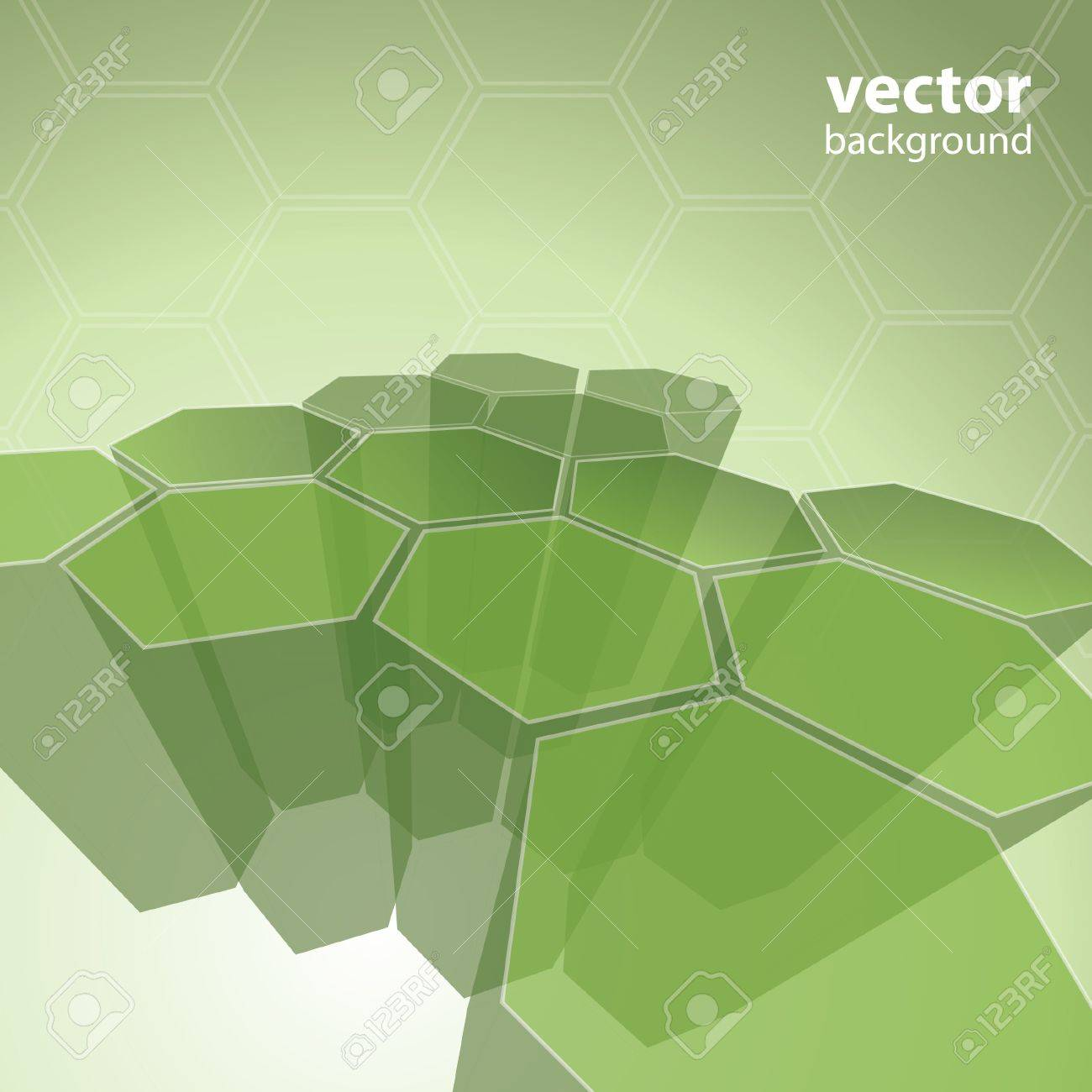 3d transparent polygon abstract background vector Stock Vector - 11222597