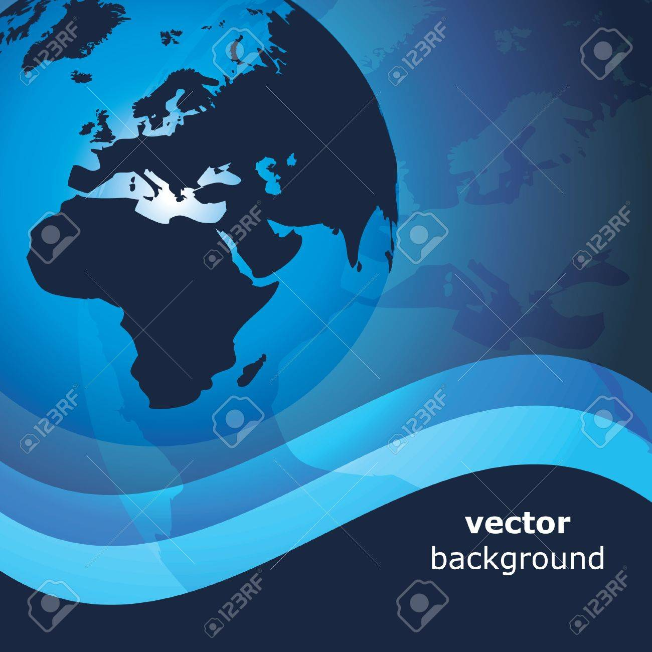 3d earth abstract background - vector illustration Stock Vector - 11908327