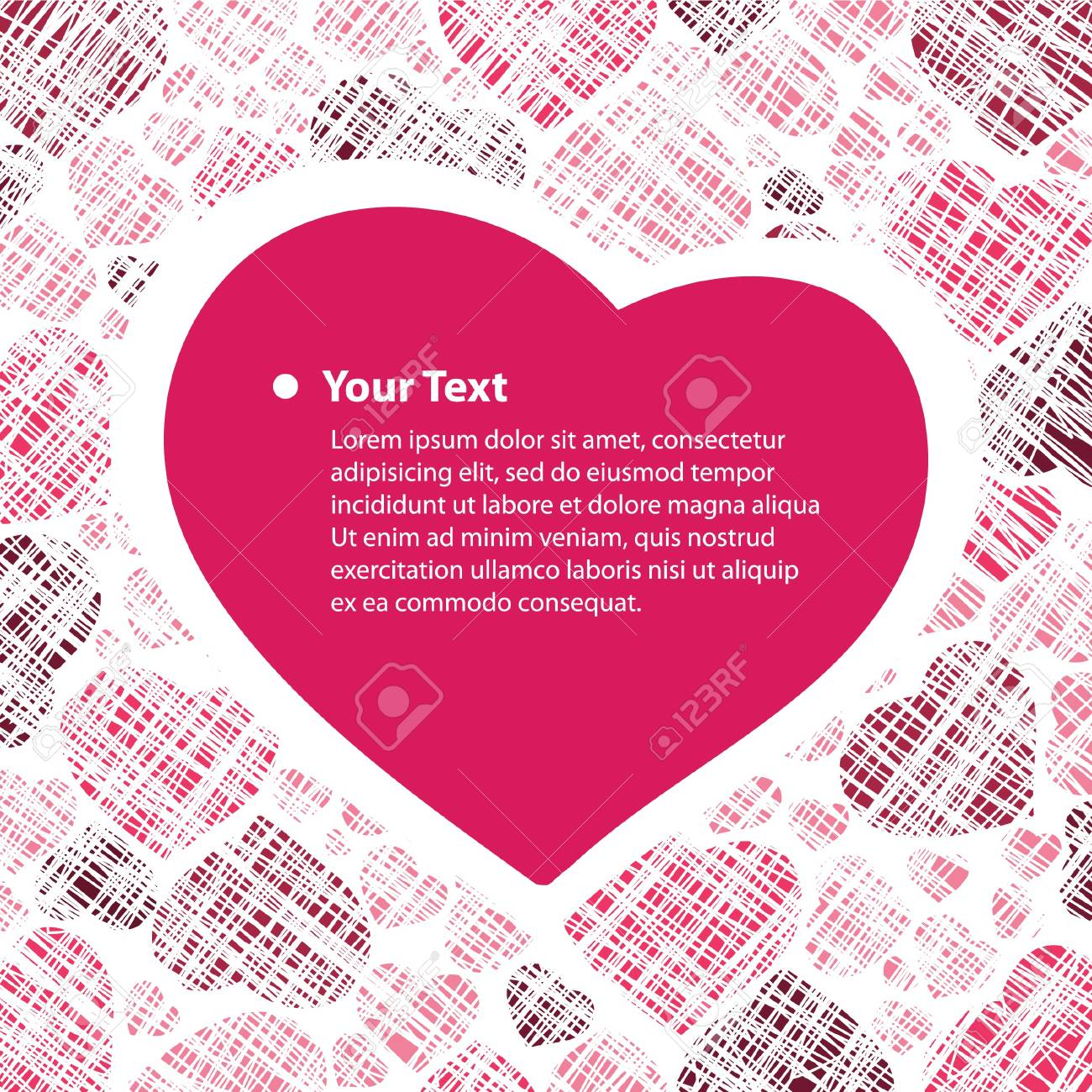 Hearts Background Stock Vector - 13445044