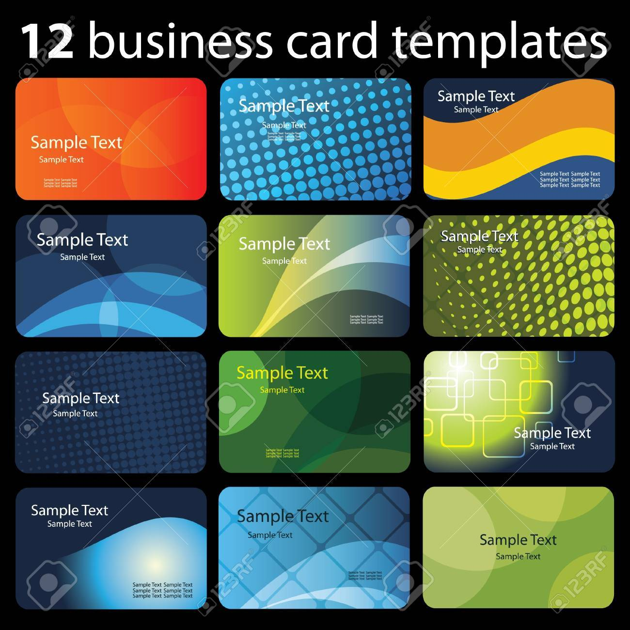 Set of colorful business cards - 11473526