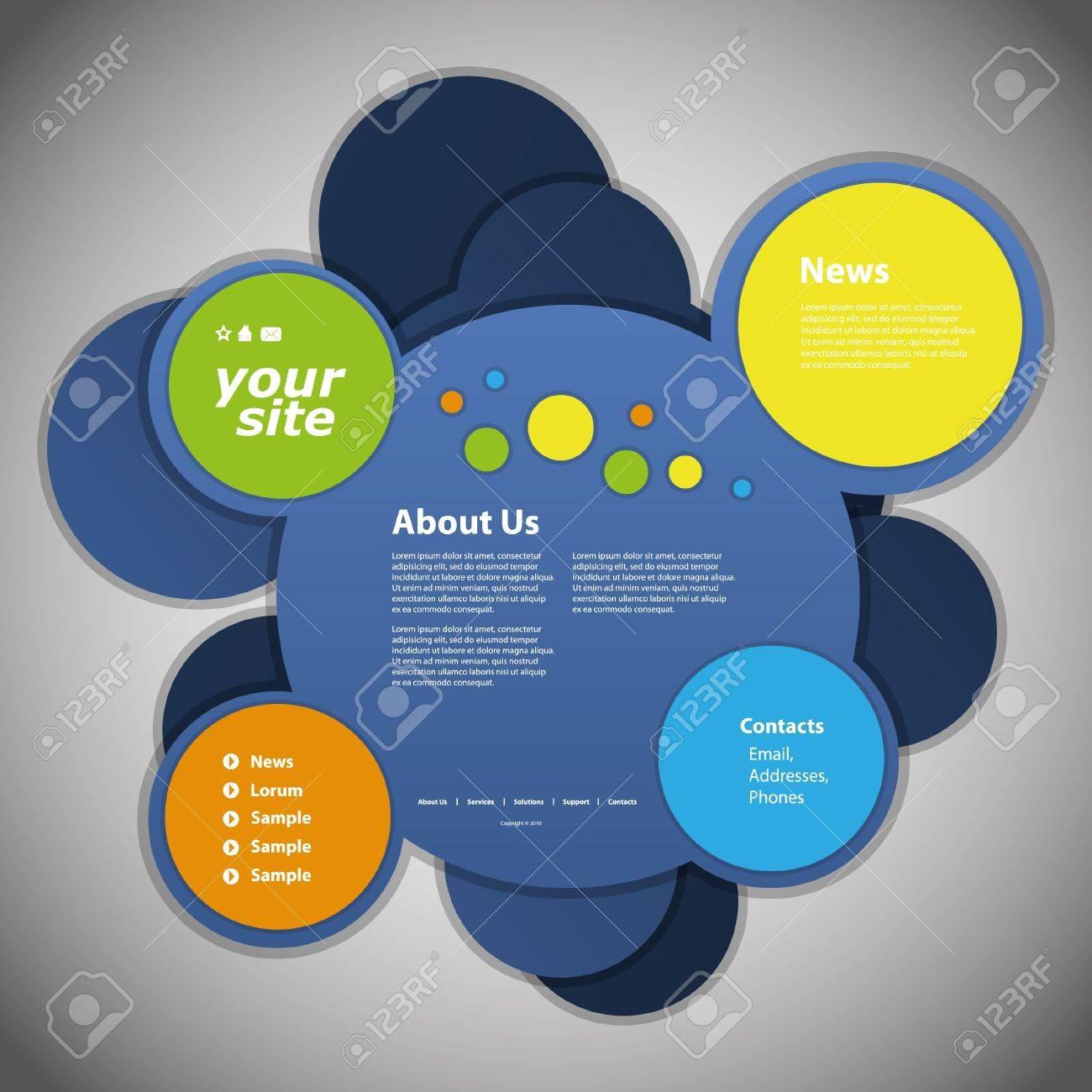 Website template Stock Vector - 11575415