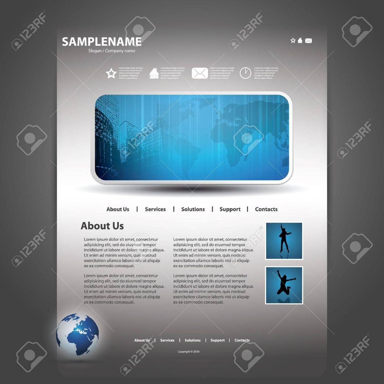 Website template Stock Vector - 11765913