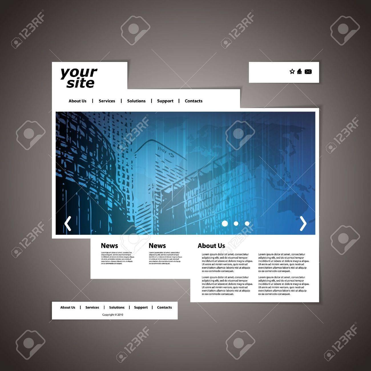 Website template Stock Vector - 11739611