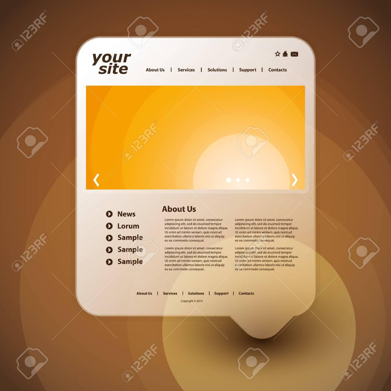 Website template Stock Vector - 11818086