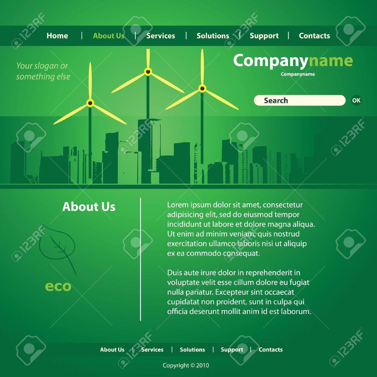 Website Template Vector Stock Vector - 11818085