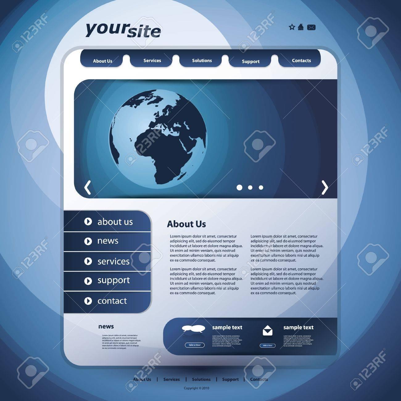 Website Design Template Stock Vector - 11993360
