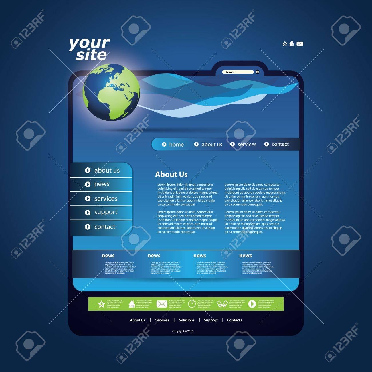 Website template Stock Vector - 11884141