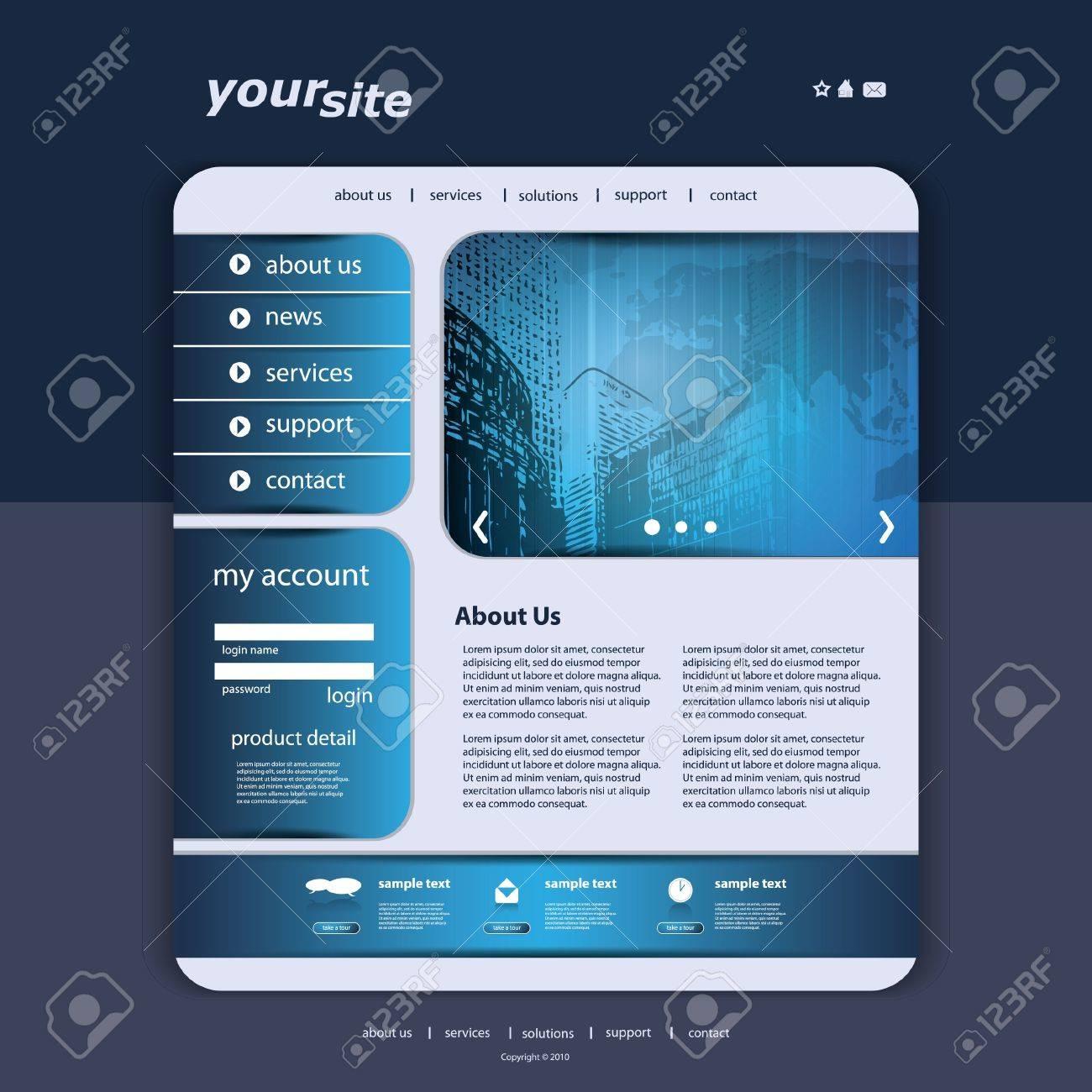 Website Template Stock Vector - 12035305
