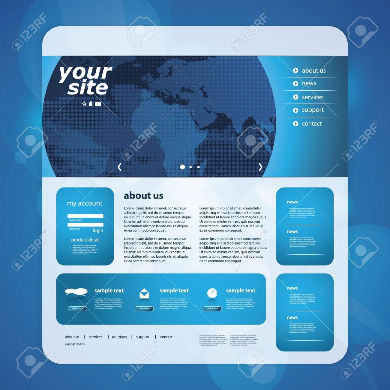 Website template Stock Vector - 12633657