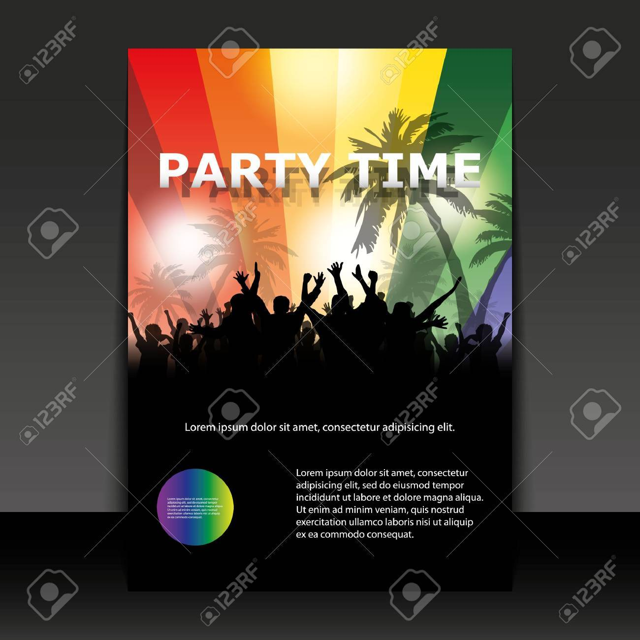 Flyer Design - Party Time Stock Vector - 11713183