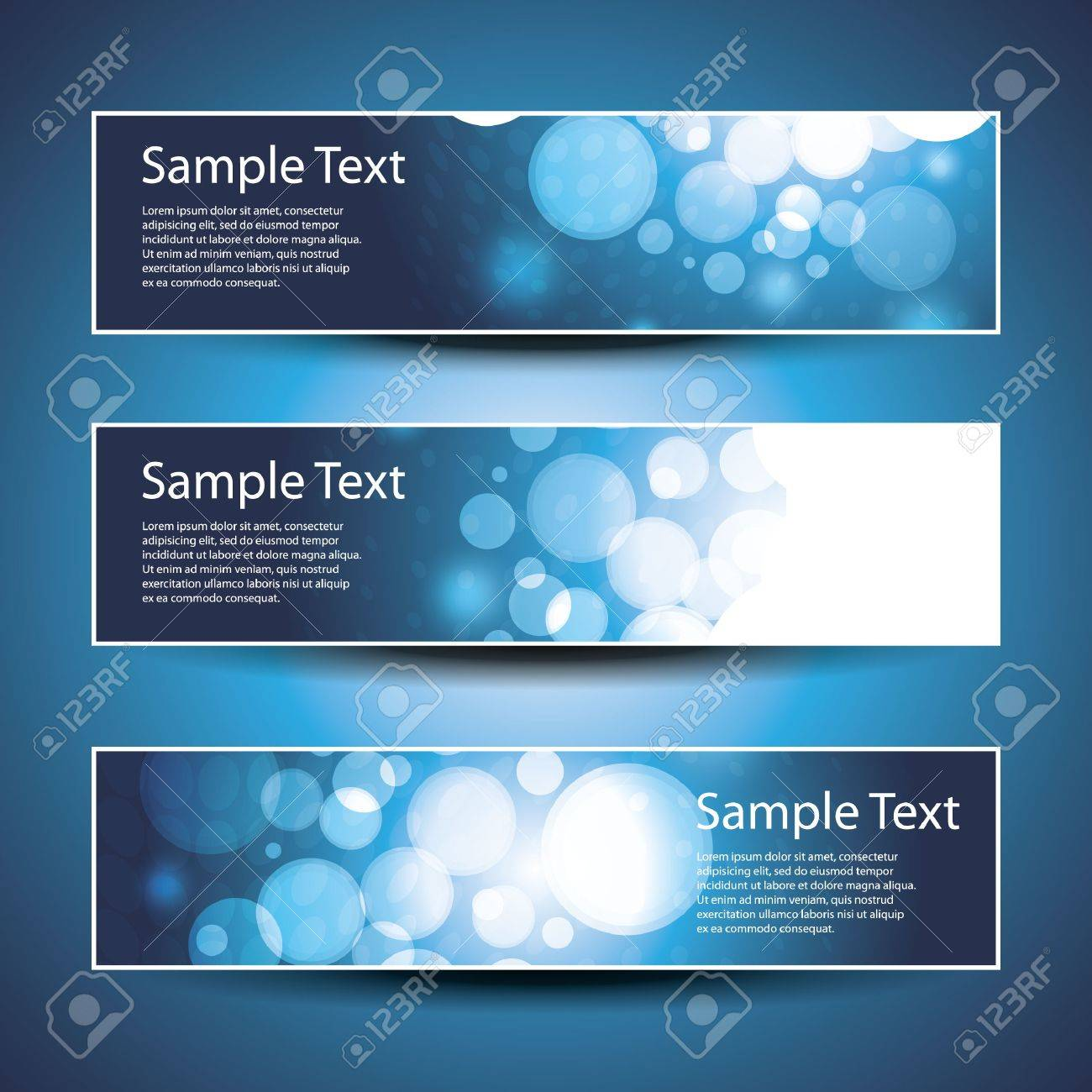 Three Header Designs Stock Vector - 12035307