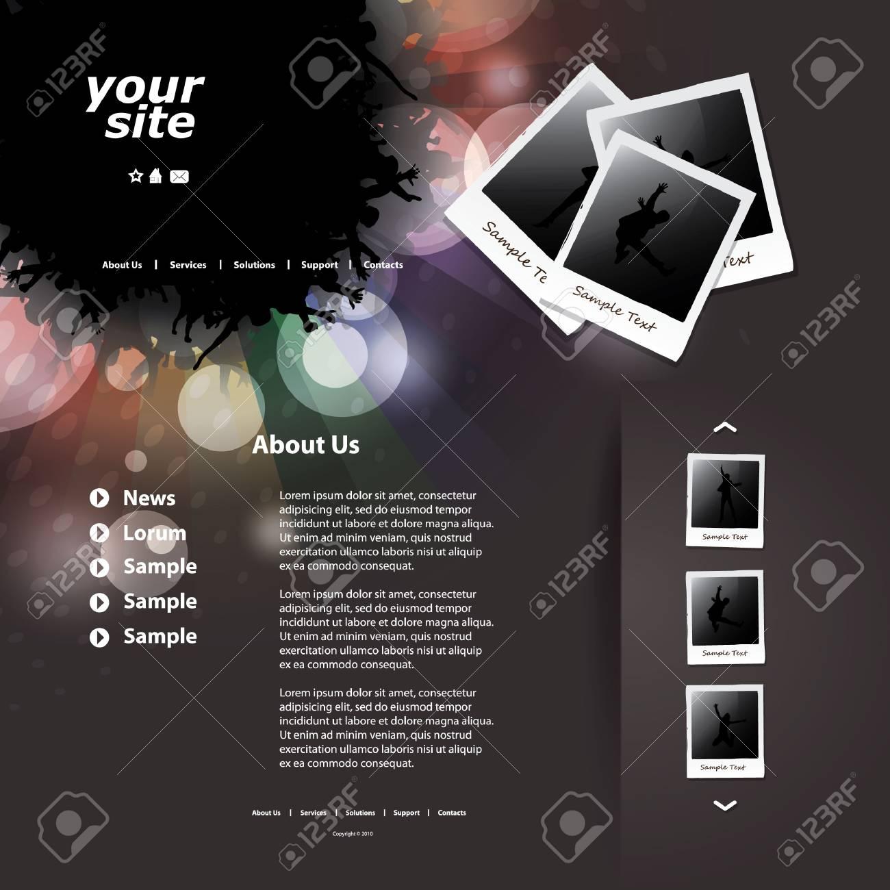 Website template Stock Vector - 11958380