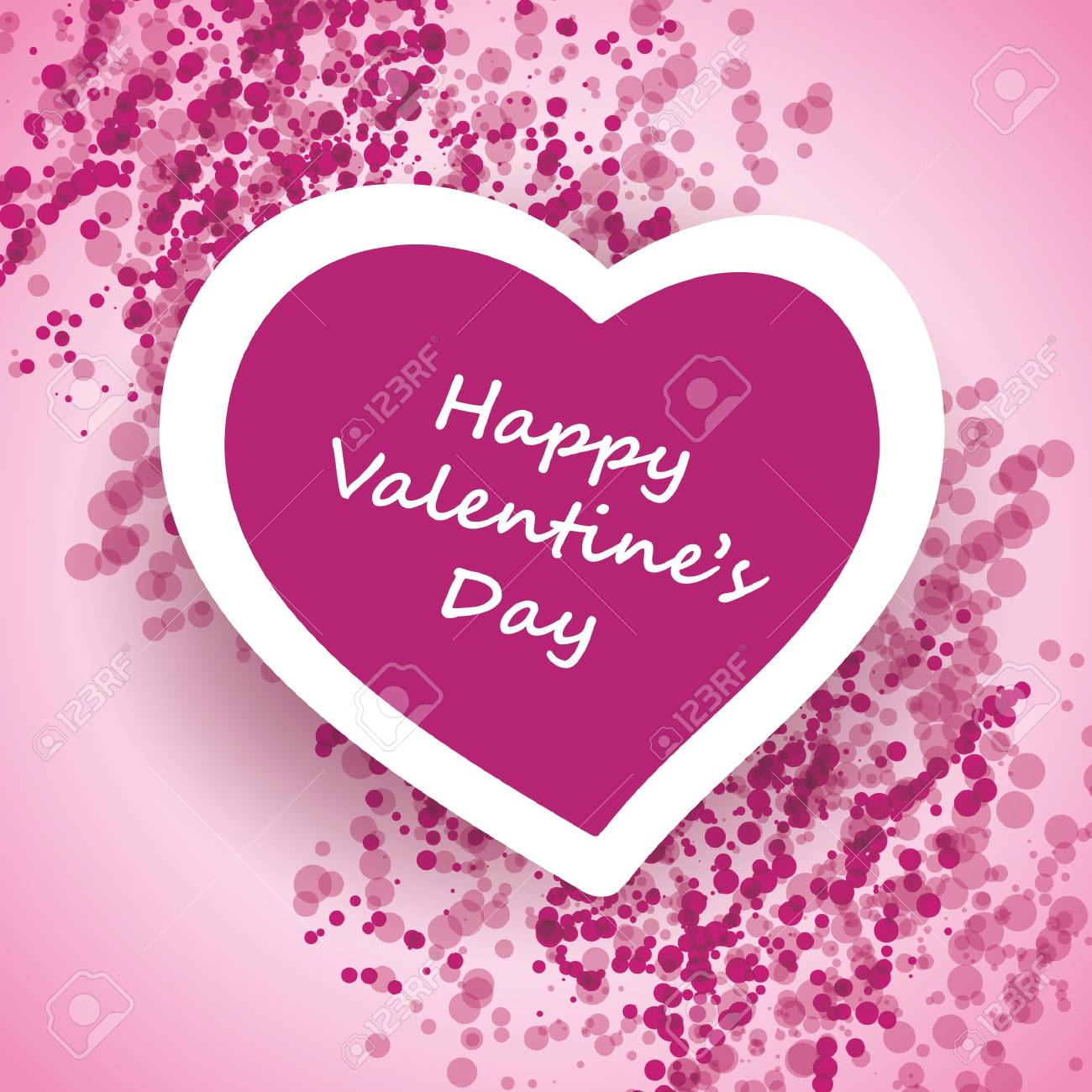 Valentines Day Card Stock Vector - 12407445