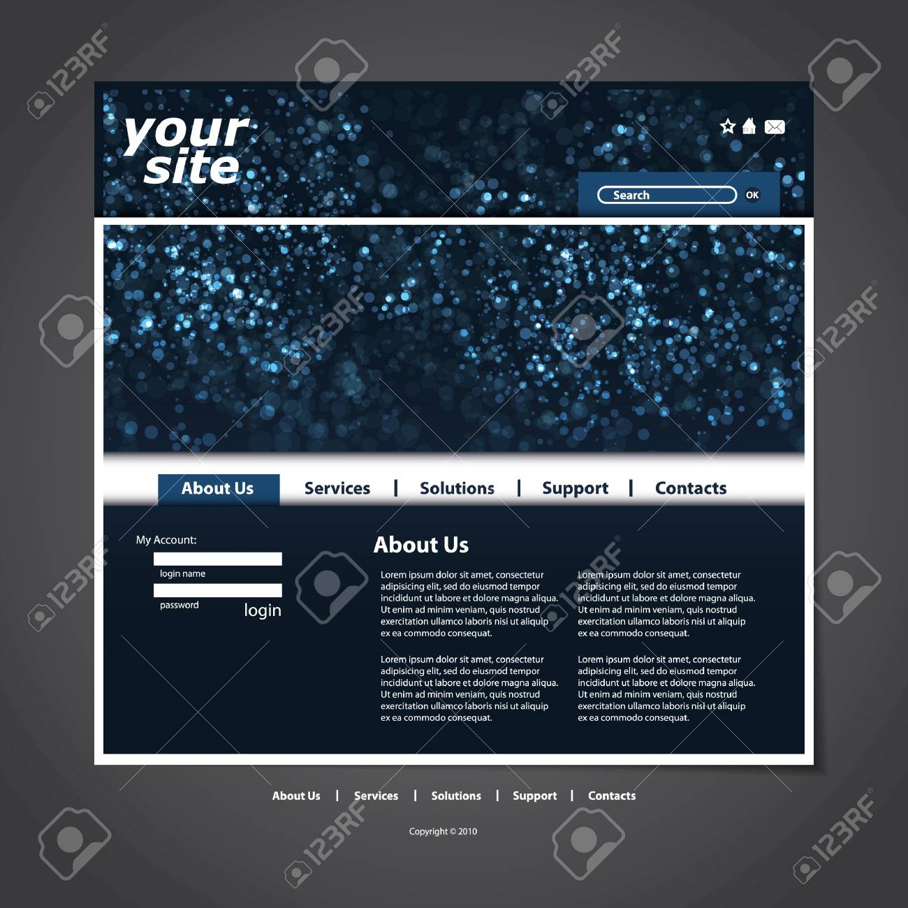 Website template Stock Vector - 12305624