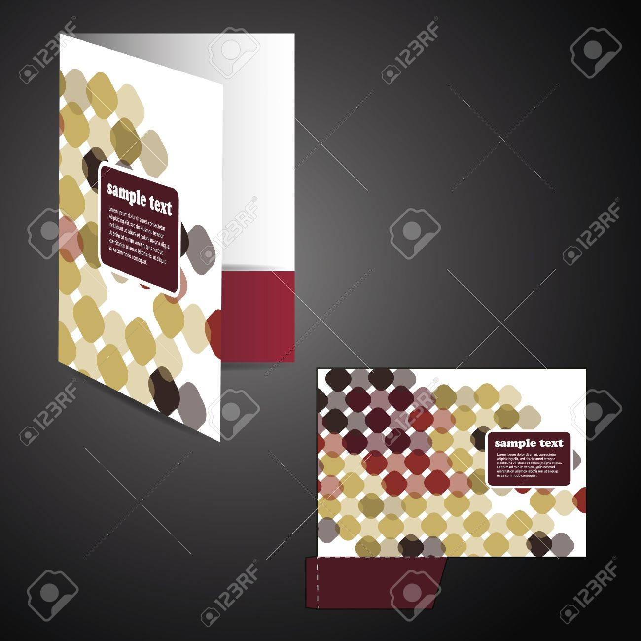 Corporate folder with die cut design Stock Vector - 12456368