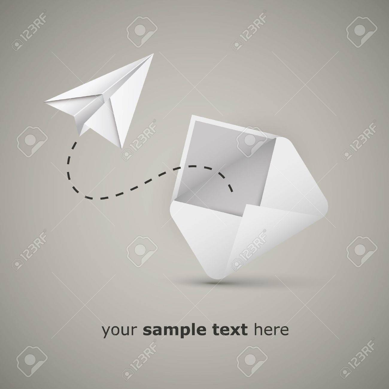 Message from an envelope - Paper airplane Stock Vector - 13568828