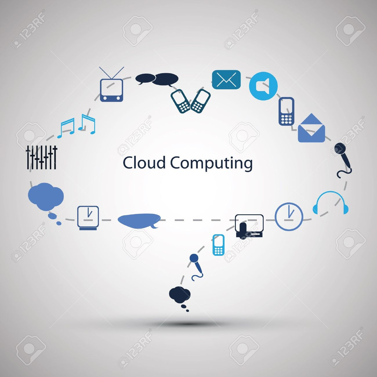 Cloud computing concept design Stock Vector - 13643278