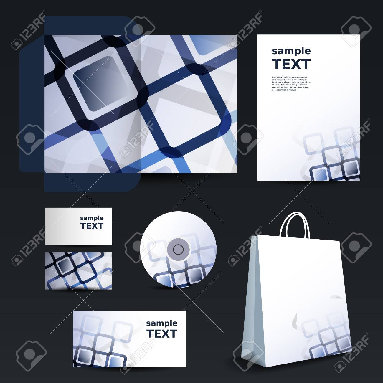 Stationery template design - business set Stock Vector - 13642005