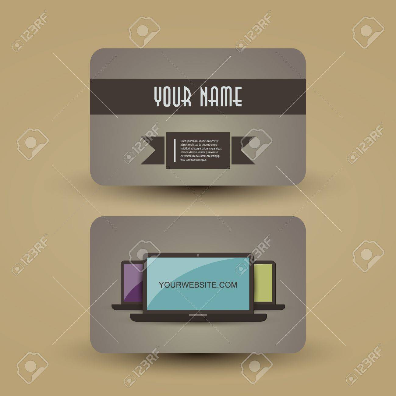 Retro business card template royalty free cliparts vectors and retro business card template stock vector 13974268 accmission Image collections