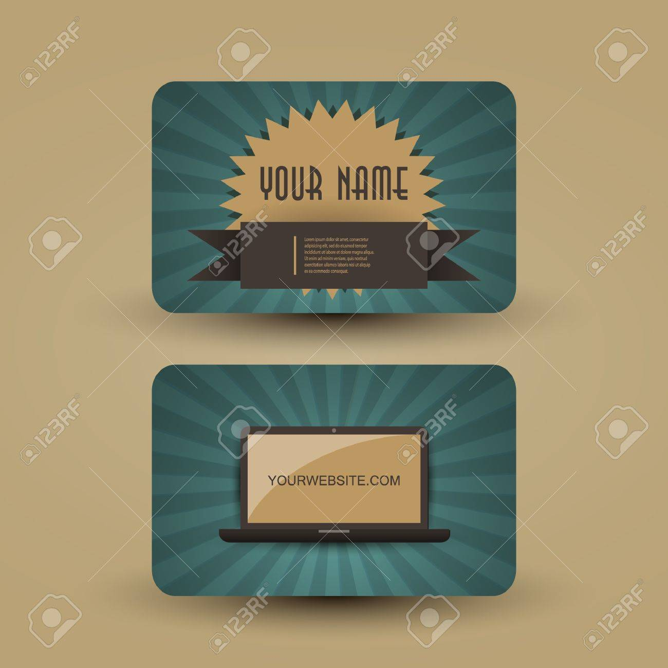 Retro business card template royalty free cliparts vectors and retro business card template stock vector 13967185 accmission Image collections