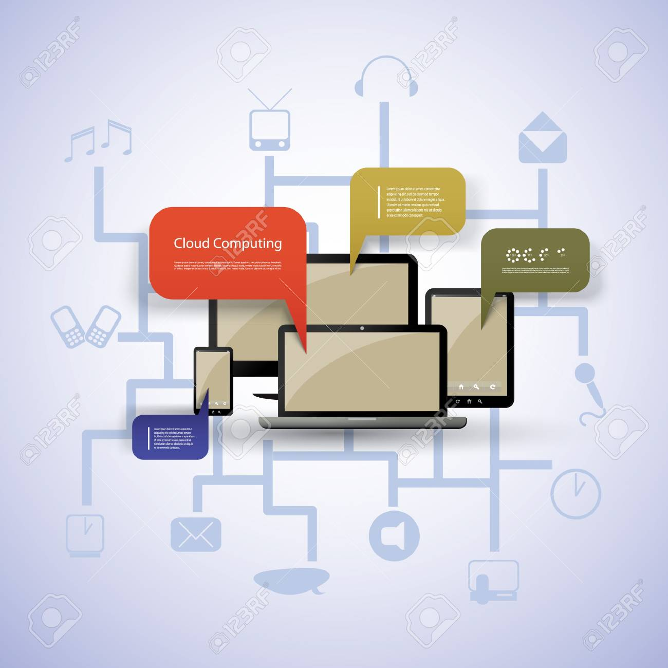 Cloud computing concept Stock Vector - 14319118