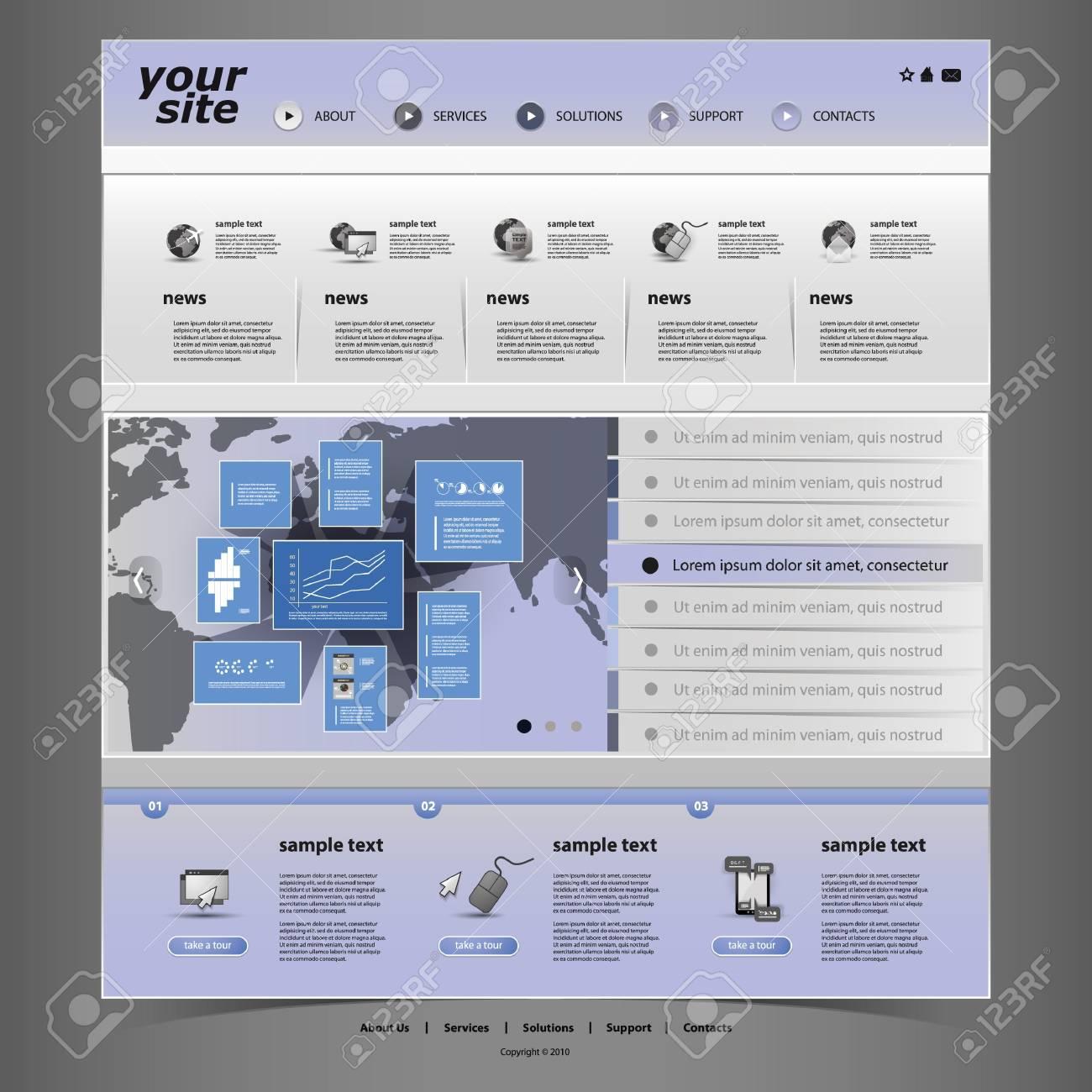 Website Template Stock Vector - 14649805