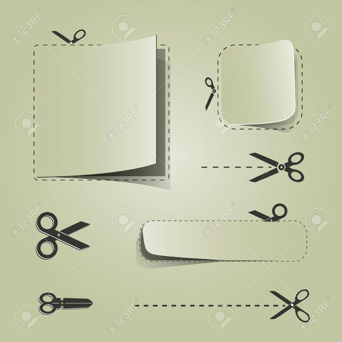 blank advertising coupons scissors royalty cliparts blank advertising coupons scissors stock vector 14754079