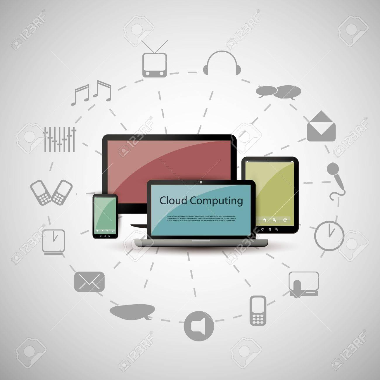 Cloud computing concept Stock Vector - 15548789