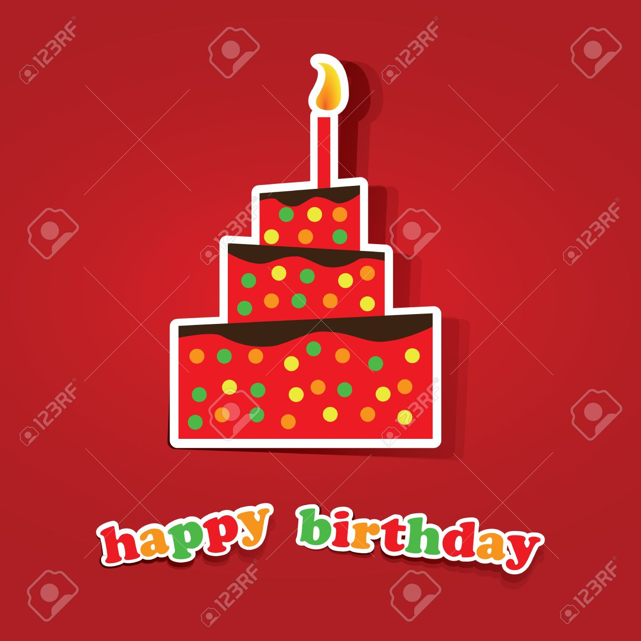 Birthday Card, Flyer or Cover Design Stock Vector - 15477838
