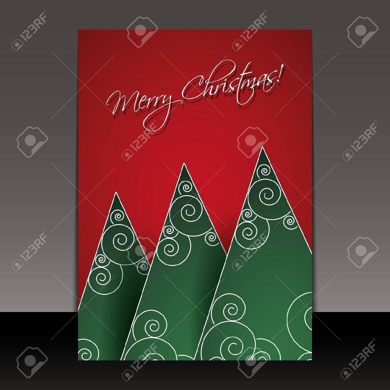 Christmas Card, Flyer or Cover Design Stock Vector - 16007425