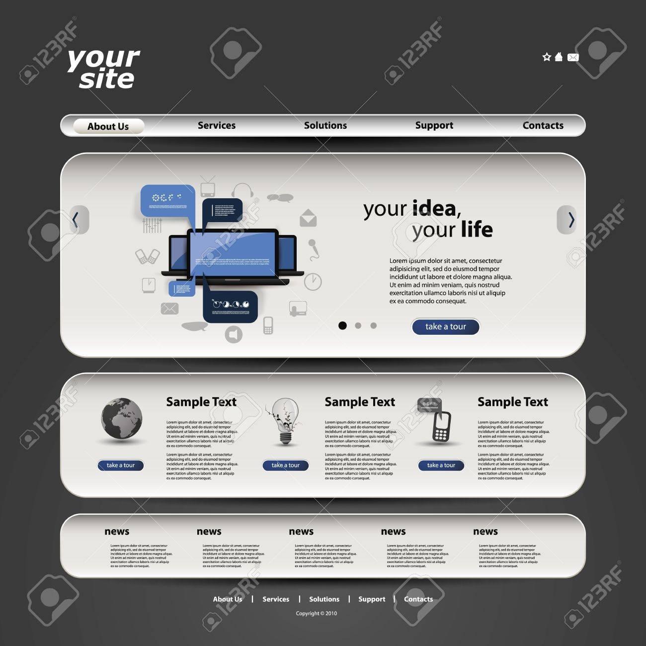 Website Template Stock Vector - 16339003