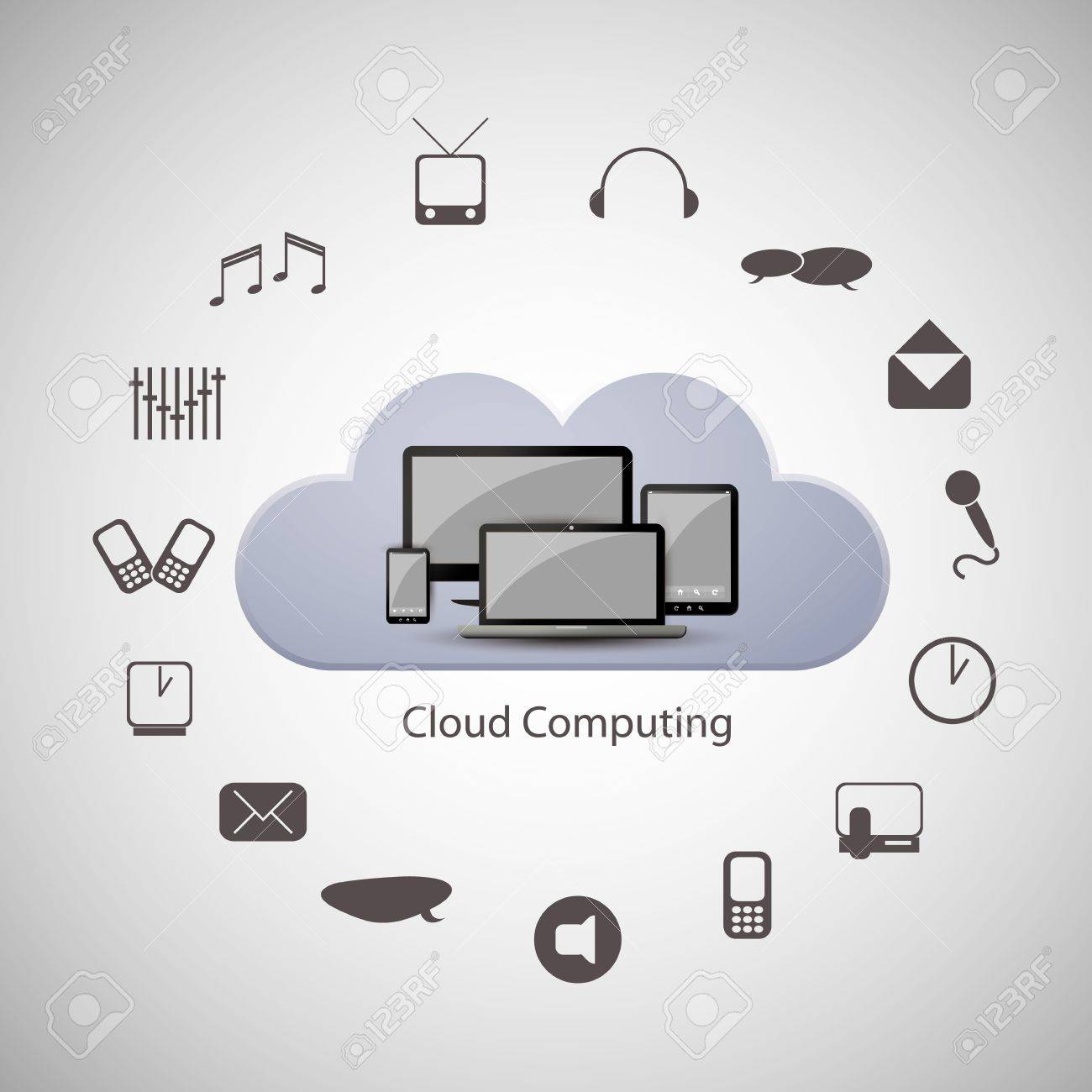 Cloud computing concept Stock Vector - 16489099
