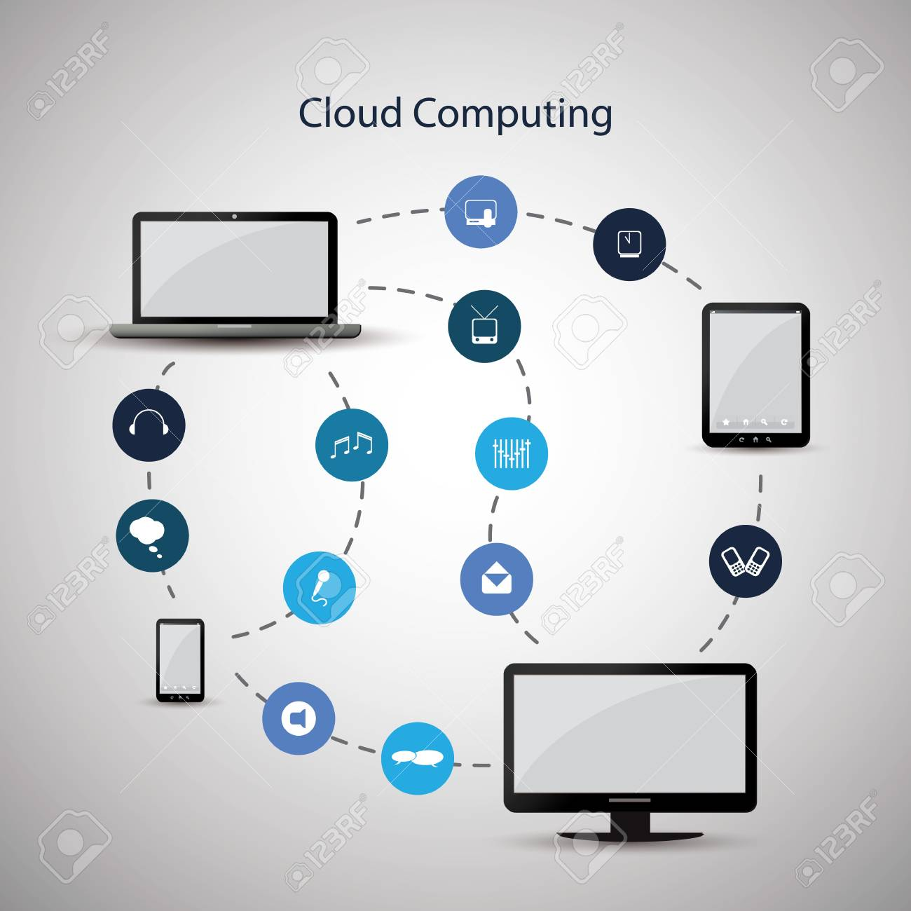 Cloud computing concept Stock Vector - 16730321
