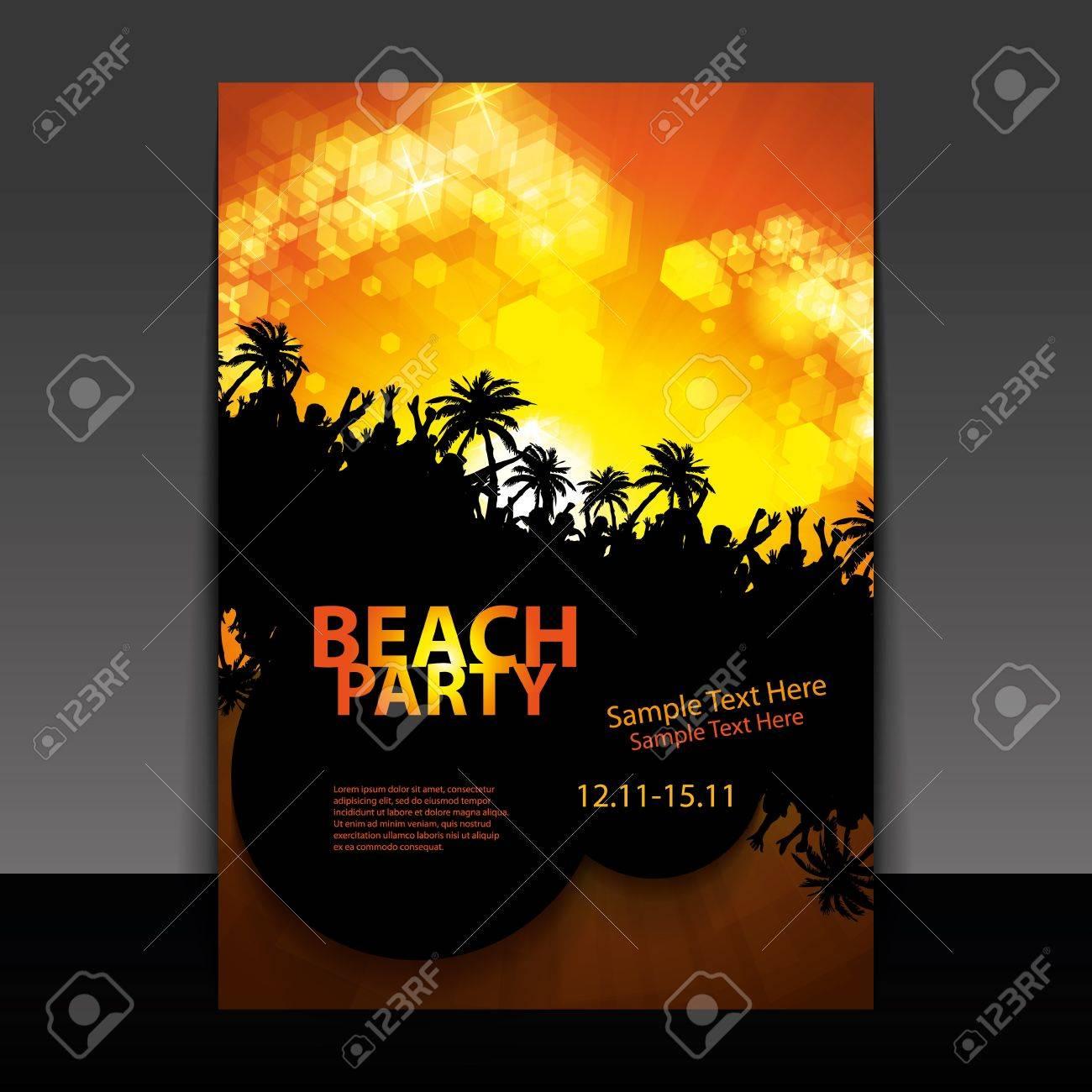 Flyer or Cover Design - Beach Party Stock Vector - 16740610